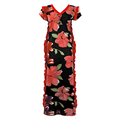NEW LADIES 100/% COTTON FLORAL NIGHTSHIRT WOMENS LONG NIGHTIE LOUNGER 8-16