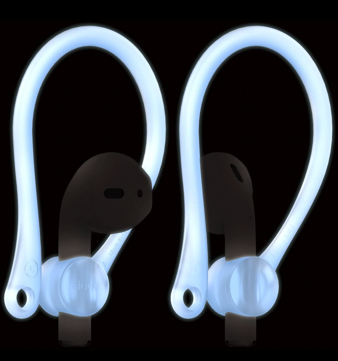 elago Upgraded Ear Hook Designed for Apple Airpods 1 & 2 and Designed for AirPods Pro, Ergonomic Design, Durable TPU Construction, Perfect for Exercising [Nightglow Blue]