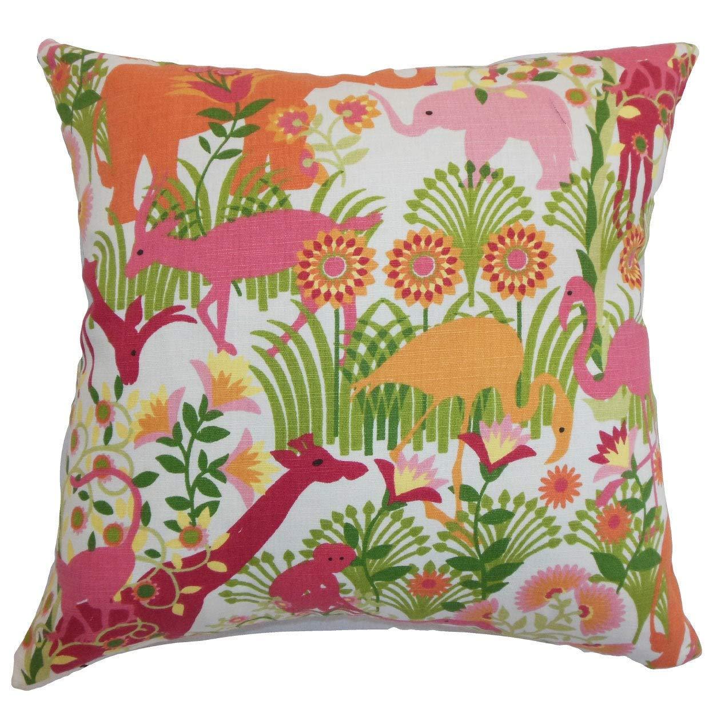 The枕コレクションCaprivi Flora & Fauna Bubblegum Down Filled Throw枕   B073KYDTC9