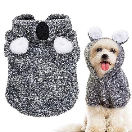 Beirui Warm Dog Pajamas Winter Coats for Small Dogs - Cute Koala Fleece Dog  Hoodies - Pet Jackets Clothes Small Medium Dogs Teddy Poodle Chihuahua 5e355f22d