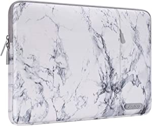 MOSISO Laptop Sleeve Compatible with 13-13.3 inch MacBook Pro, MacBook Air, Notebook Computer, Polyester Vertical Painting Marble Carrying Case Bag with Pocket