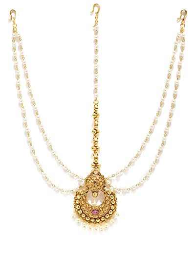 095ca30b9 Buy Tipsyfly Chandrika Ethnic Maang Tikka for Women Online at Low Prices in  India | Amazon Jewellery Store - Amazon.in