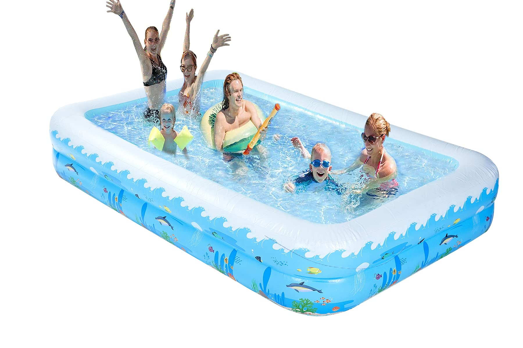 Inflatable Pools Large Swimming Pool for Adults Kids in Backyard Garden Outdoor