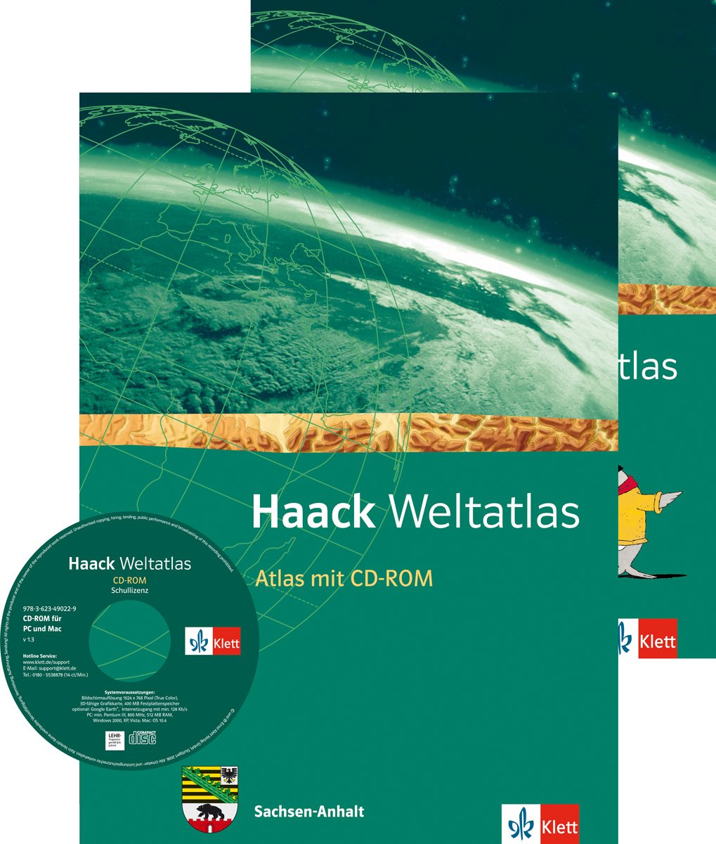 Haack Weltatlas für die Sekundarstufe I / Ausgabe für Sachsen-Anhalt: Mit CD-ROM und Arbeitsheft Kartenlesen