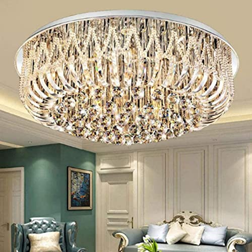 Chandelier Modern K9 Crystal Raindrop Chandelier Lighting Flush Mount Luxury LED Ceiling Light Fixture Pendant Lamp