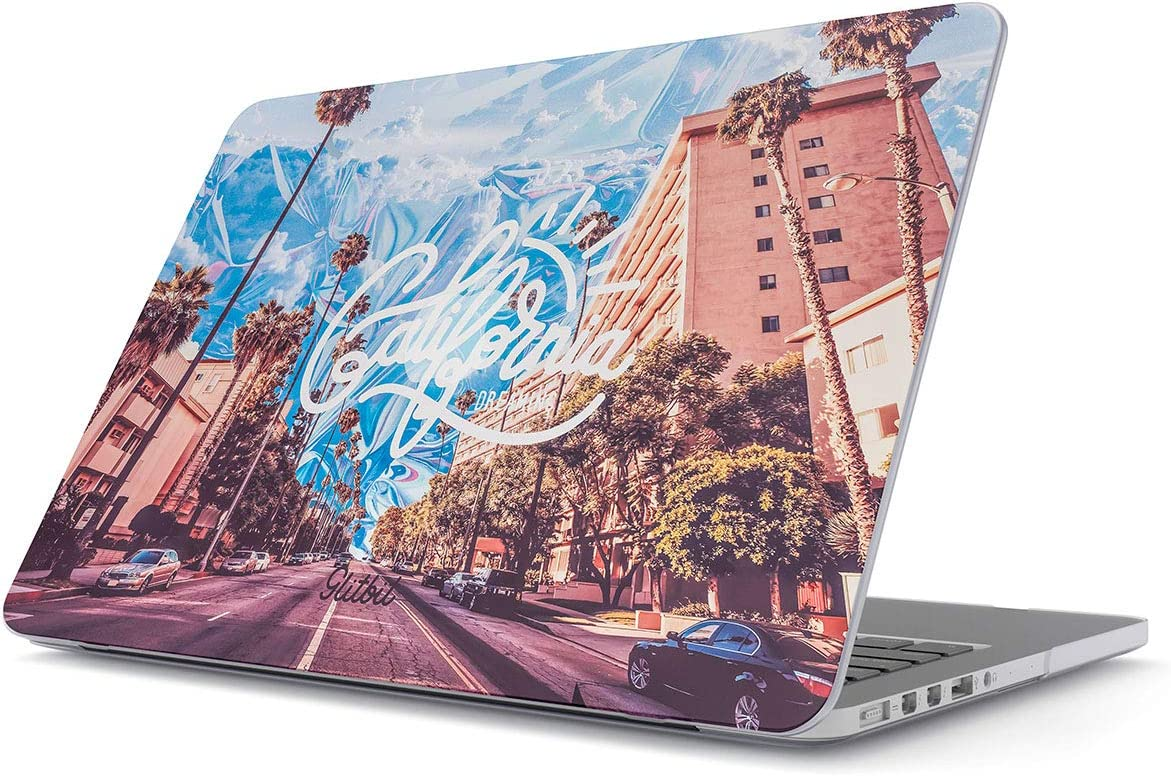 "Glitbit Hard Case Cover Compatible with MacBook Air 11 Inch Case, Model: A1370 / A1465 11-11.6 Inch 11"" California Dreaming Sunny Cali USA Palm Trees Summer Good Vibes"