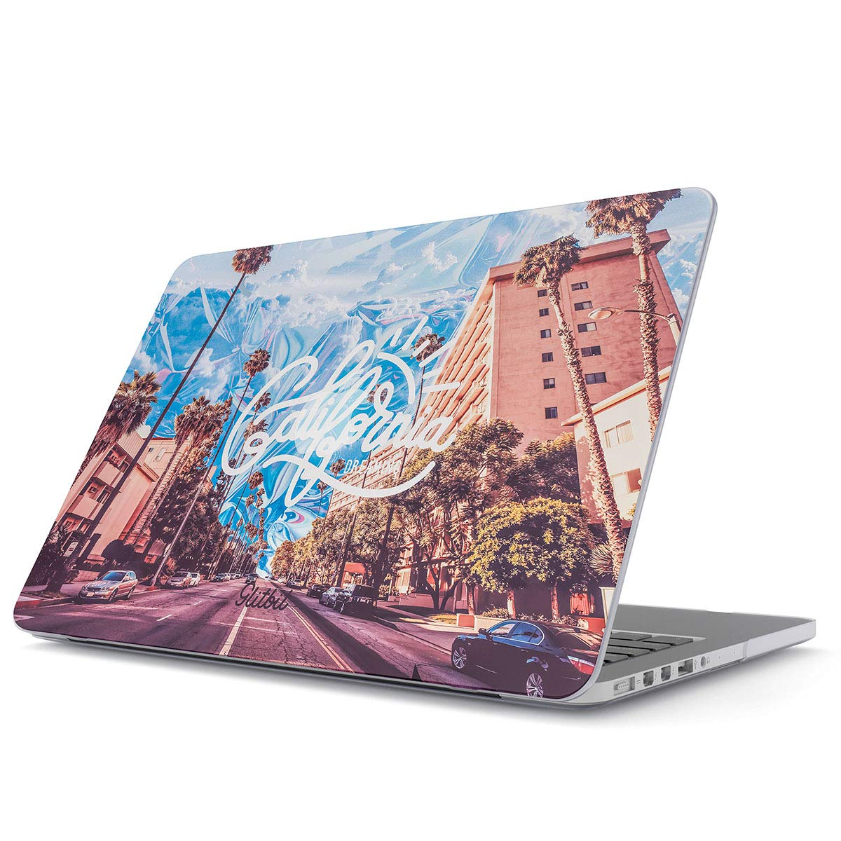 Glitbit Funda para MacBook 12 Pulgadas, Modelo: A1534 con Retina Display California Dreaming Sunny Cali USA Palm Trees Summer Good Vibes Viaje ...