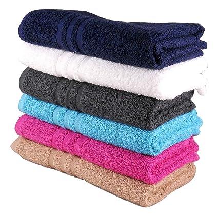 Cheap toallas de baño 100% algodón presupuesto calidad 360 g/m² Pack de 6
