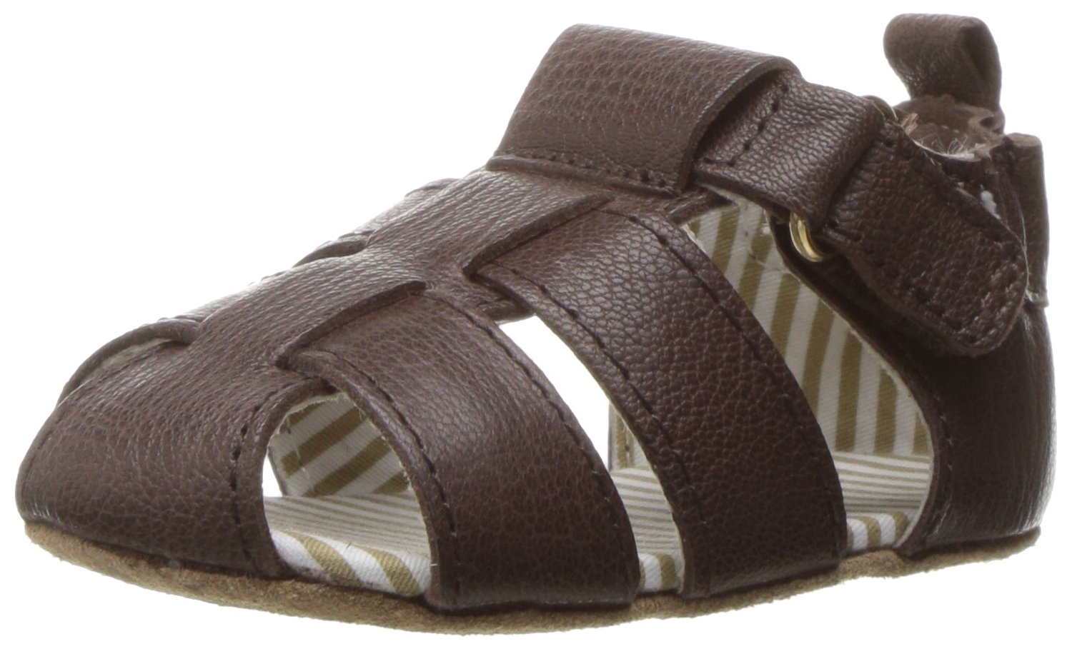 Robeez Boys' Samuel Sandal - First Kicks, Espresso, 18-24 Months M US Infant by Robeez