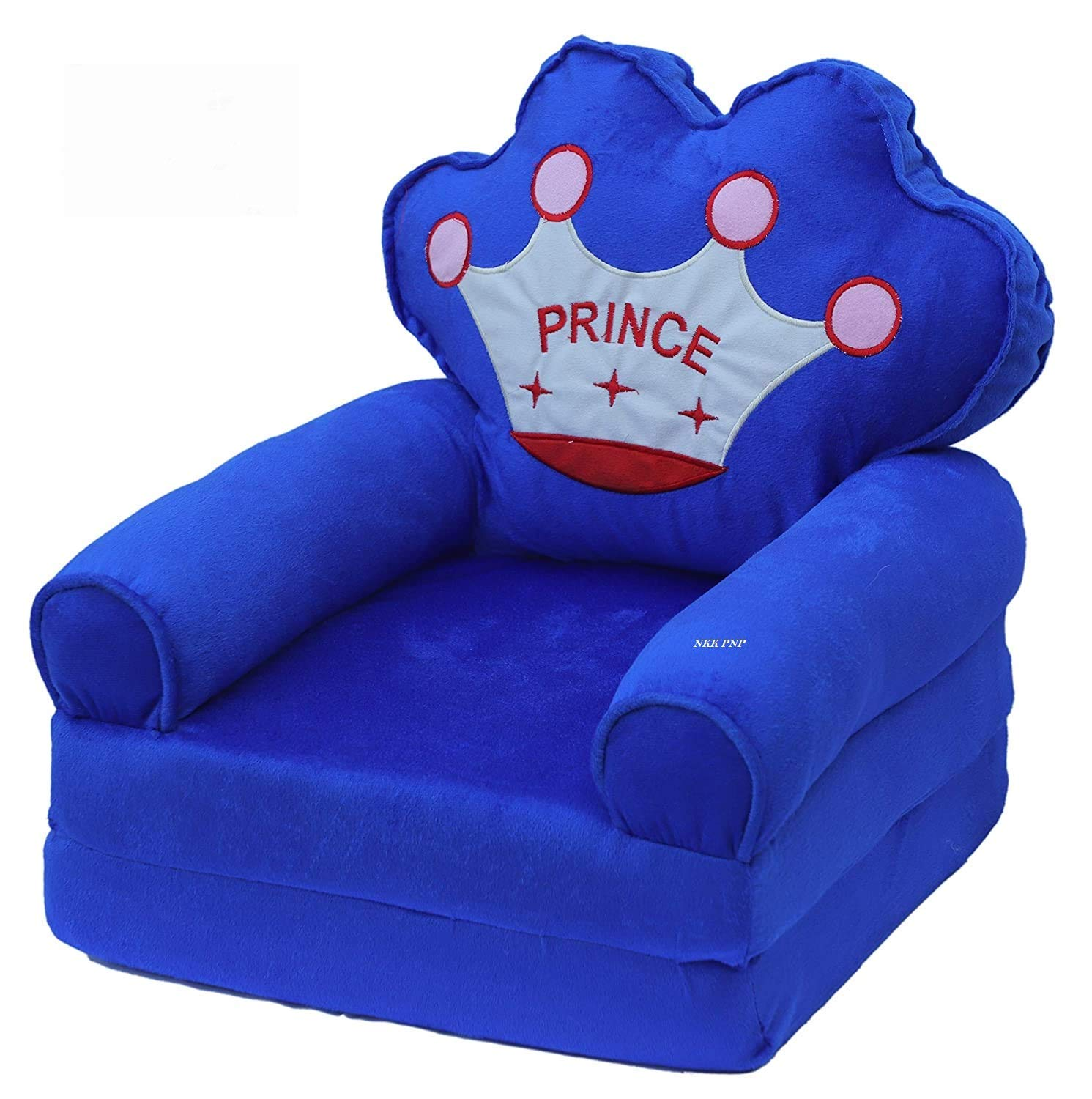 COROID Sofa Cum Bed Back SEAT Shape Imported Soft Toy Chair/seat for Baby Sitting/Soft Toy Chair for Kids (Age - 0-2 Years) (Blue/Red/Pink_Color) (Blue)