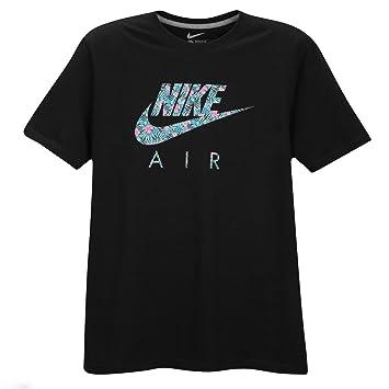 ad00f8f856e2b es Flores Air Nike Hombres Amazon Camiseta De Negro Logo Xxl qw6Ptzv6W