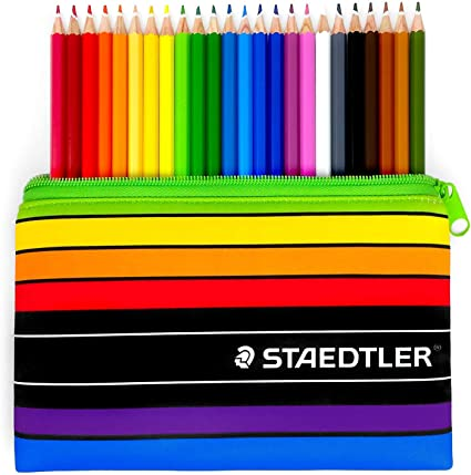 Staedtler Noris Club Juego Estuche - 24 X Staedtler 144 para Colorear Lápices y Staedtler Estuche: Amazon.es: Oficina y papelería