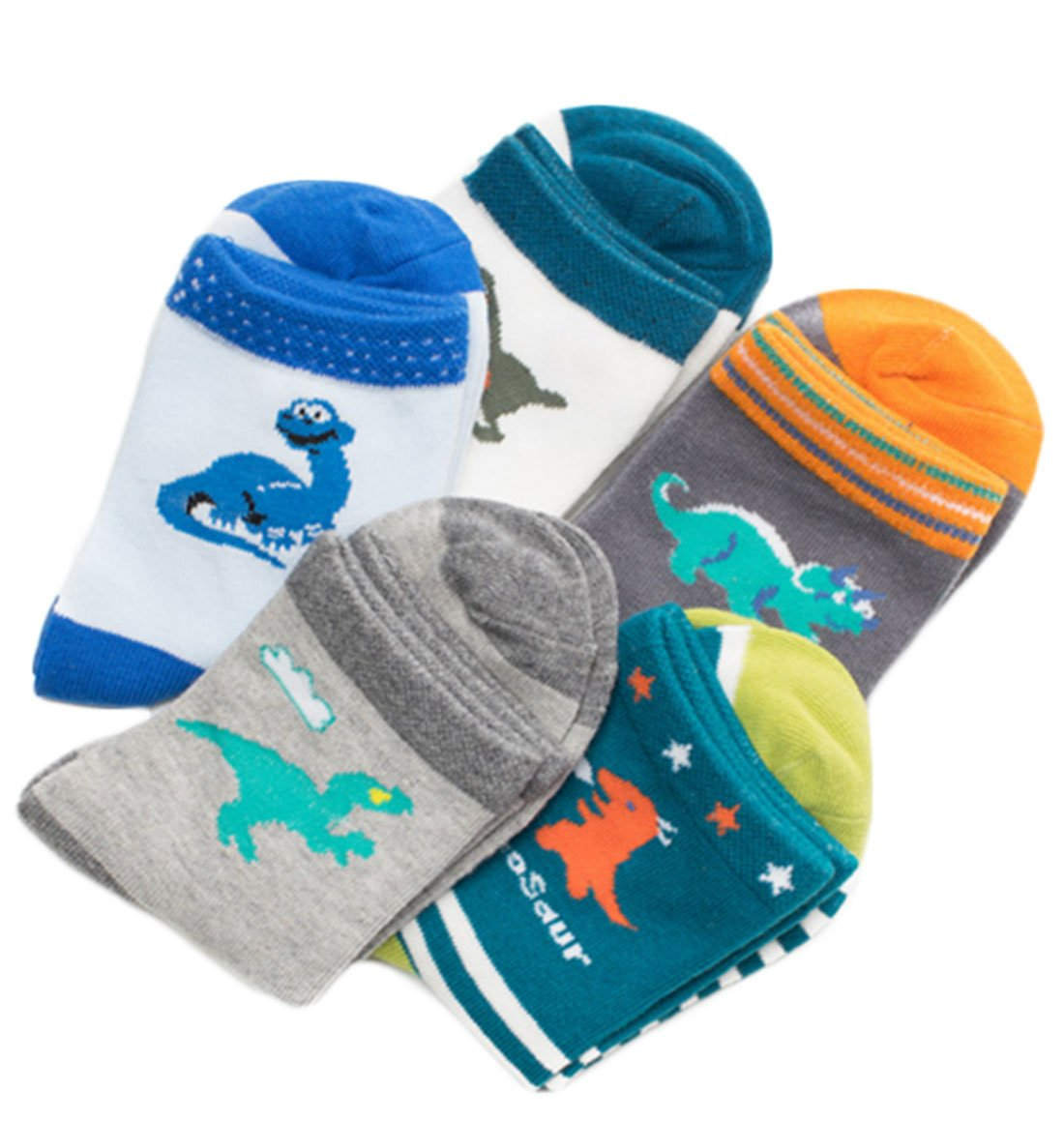 Boys Kids Dinosaur Cotton Casual Athletic Socks 3-12Y Abbyling68