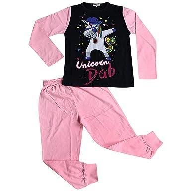 fcc90b615e4b Kids Girls Pyjamas Designer Unicorn Dab Floss Lounge Wear Nightwear PJS  5-13 Yr Baby
