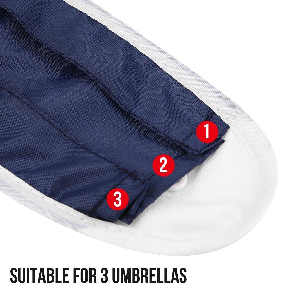 Cubierta impermeable para el paraguas del coche Bolsa de almacenamiento plegable de doble uso para el asiento trasero del asiento trasero