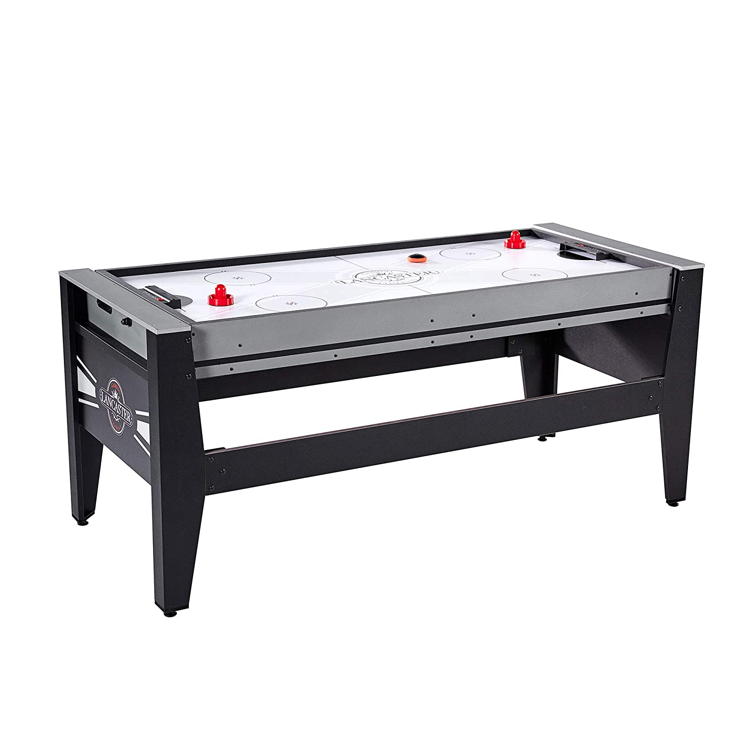 39229572df3 Amazon.com  MD Sports Lancaster 4 in 1 Air Hockey Pool Ping Pong Football  Swivel Game Table  Toys   Games