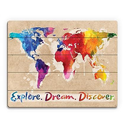 Amazon Com Explore Dream Discover The World Rainbow