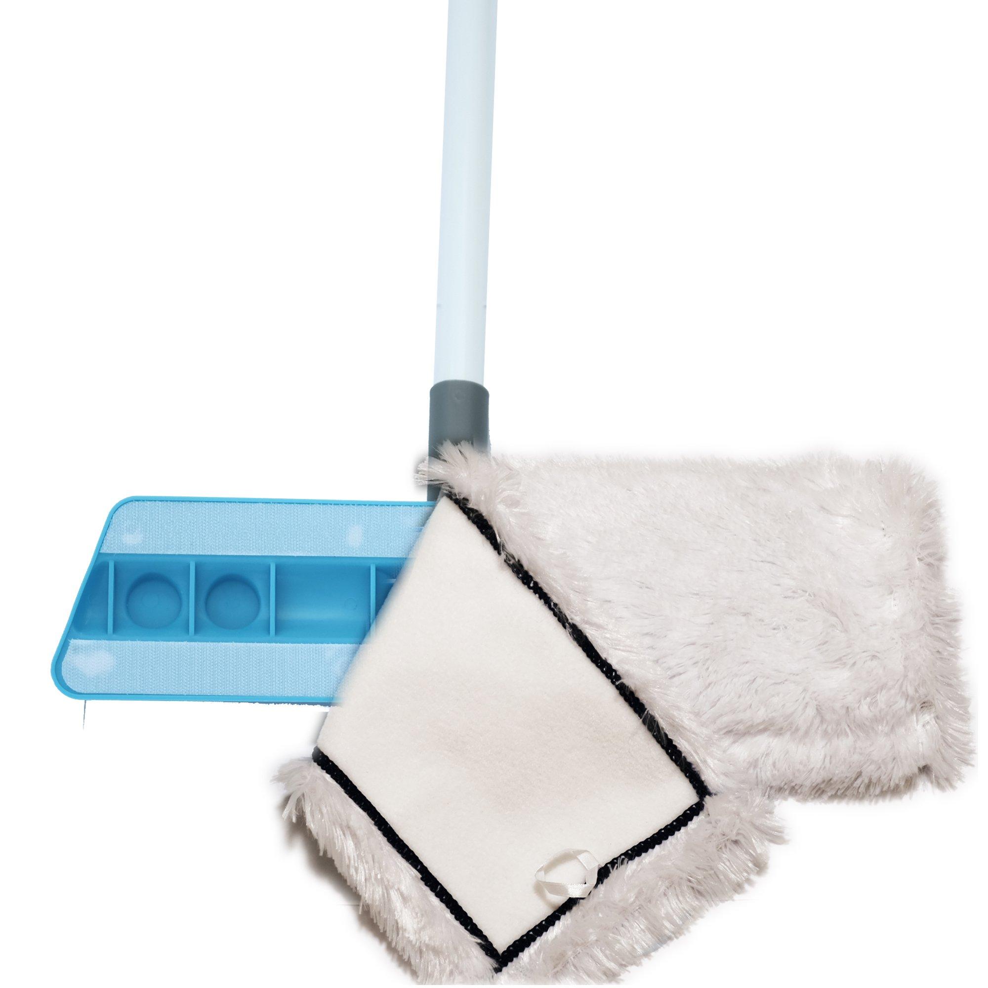 Microfiber Mop 18inch Velcro Wet & Dry Mop Refill for Hardwood Floors Set of 8 by Bear Family by Bear Family Microfiber (Image #6)