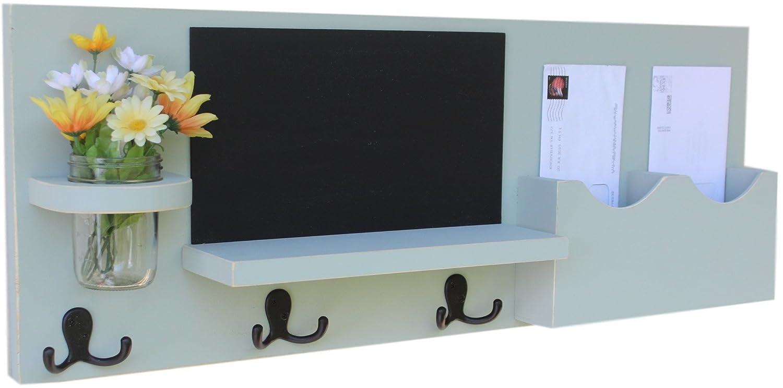 Amazon.com: Legacy Studio Decor Mail Organizer with Chalkboard Coat ...