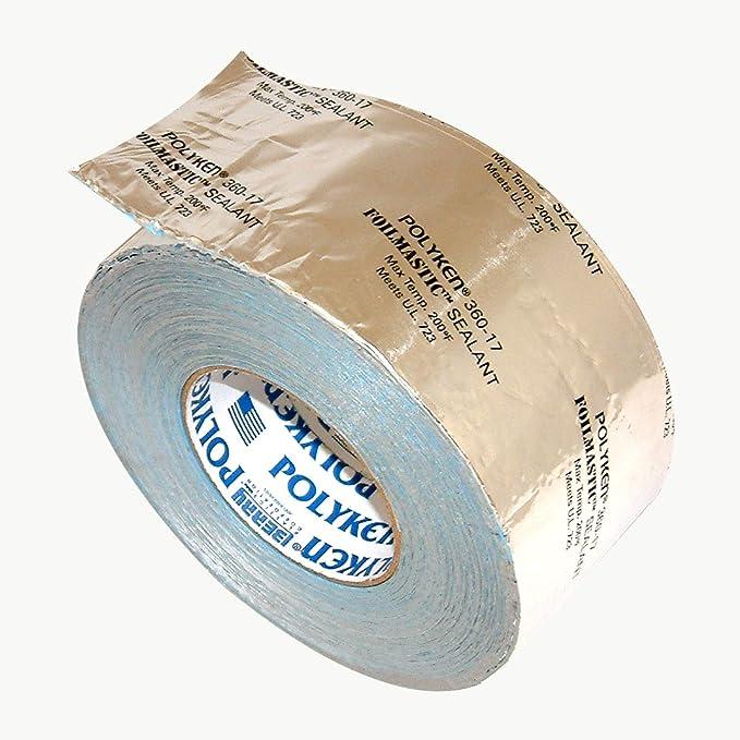 "2/"" x 100/' Foilmastic for Flexible Duct Polyken 367-17 Foil Tape"