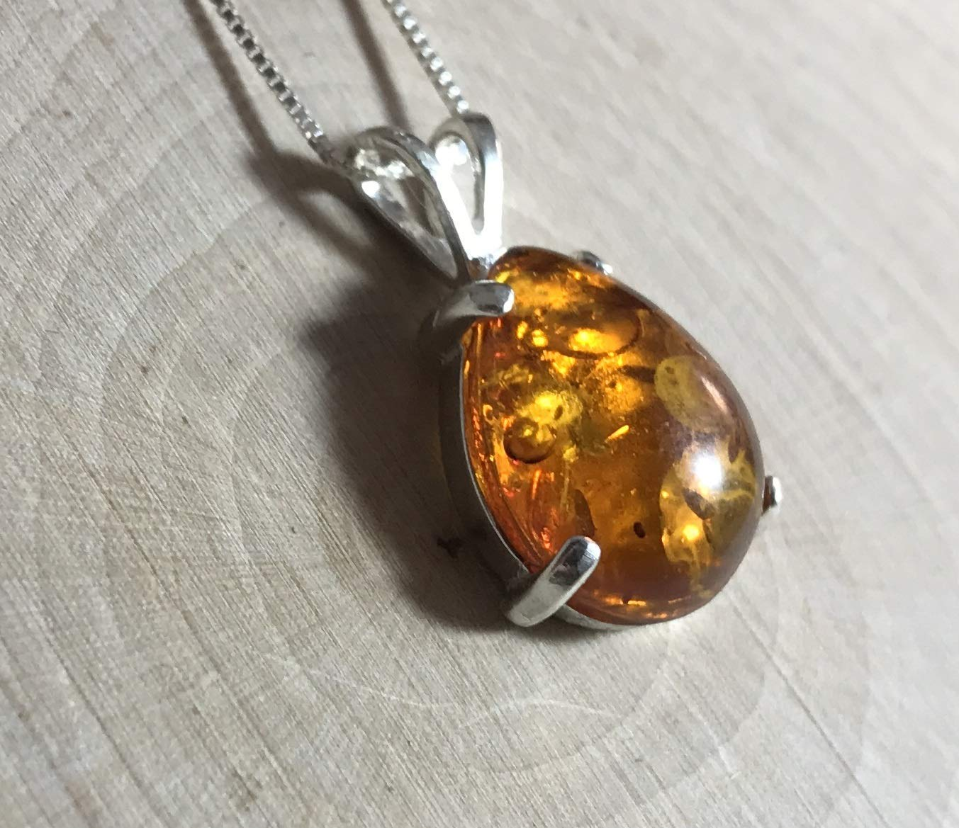 Hand Carved Amber Amulet Pendant Tumble Stone Amulet Necklace on adjustable cord Amber Jewelry Protection Amulet For Men or Women
