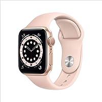 Apple Watch Series 6 (GPS, 40 mm) Caja de aluminio en oro - Correa deportiva rosa arena