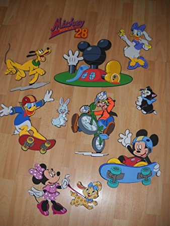 10 DISNEY MICKEY MOUSE CLUBHOUSE FIGURES FOAM WALL 3D DECORATION STICKERS Part 51