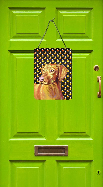 Carolines Treasures LH9066DS1216 Vizsla Candy Corn Halloween Portrait Wall or Door Hanging Prints Multicolor 16 x 12