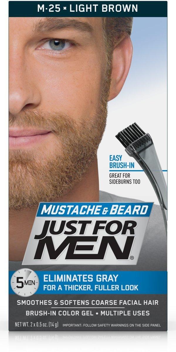 Amazon Just For Men Mustache Beard Brush In Color Gel Light