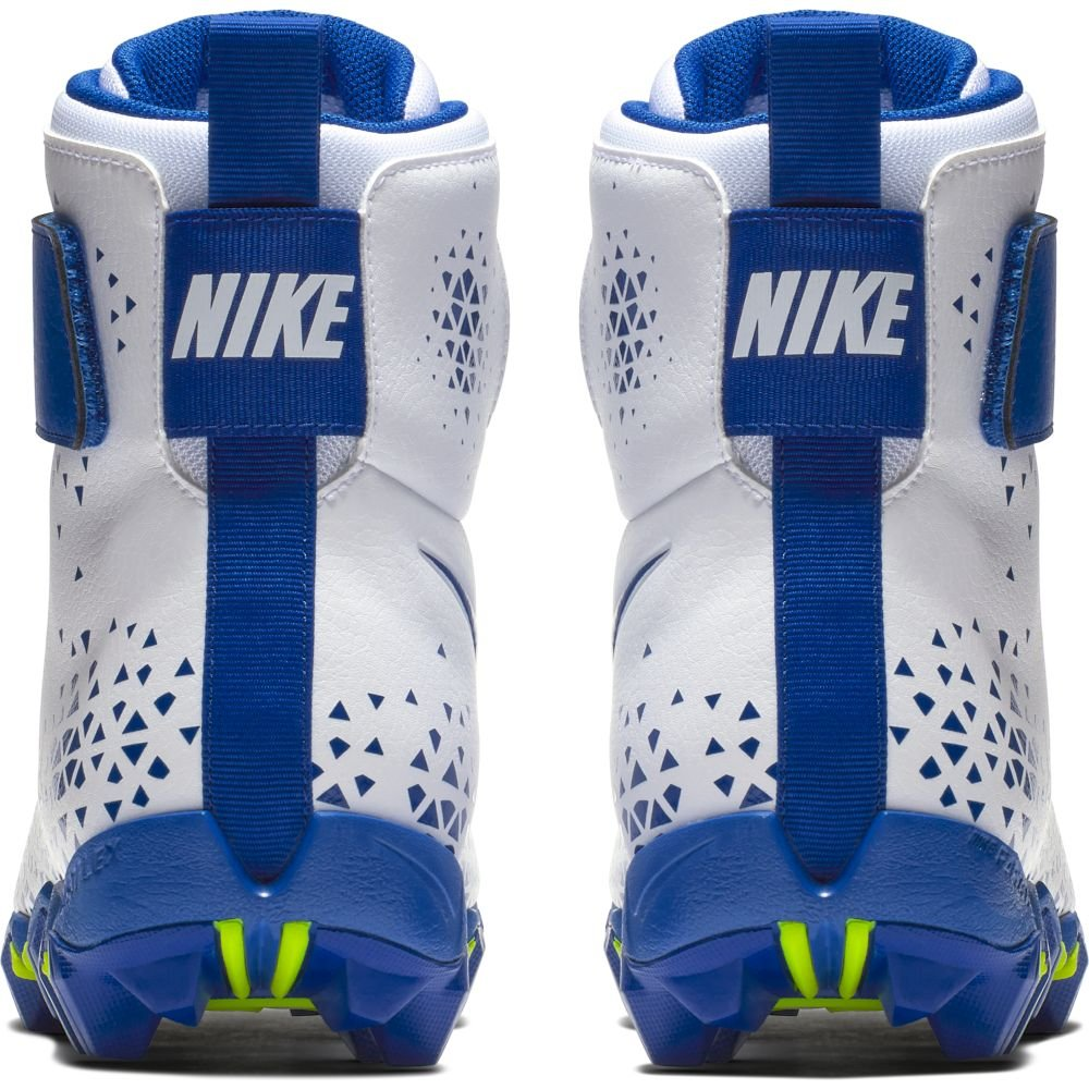 NIKE Men's Force Savage Shark Football Cleat - White/Game Royal-Game Royal - 880109-141 (13 D(M) US) by NIKE