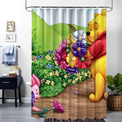 NEW!! The-Pooh-Christmas-Celebration Waterproof Shower Curtain Exclusive Design
