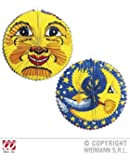 HAAC Lampion bunt mit Motiv Mond mit Sterne oder Sonne 60 cm für Feste Laternenumzug
