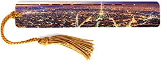 product image for Personalized Paris France Skyline - Color Wooden Bookmark with Tassel