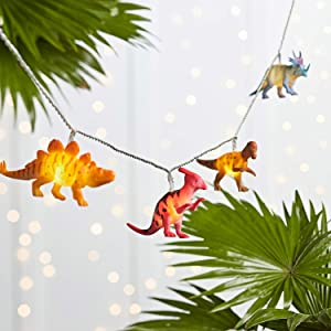 Lights4fun, Inc. 12 Dinosaur Battery Operated LED Indoor Kids Bedroom String Lights