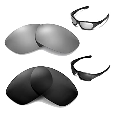4e26f32828 Image Unavailable. Image not available for. Color  New Walleva Polarized  Black + Titanium Lenses for Oakley Pit Bull