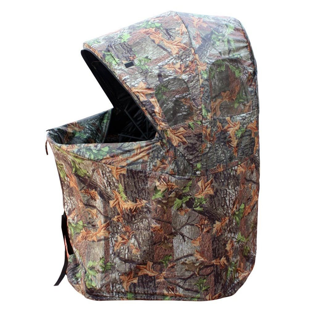 XGear Outdoors One Man Chair Blind Game Hunting Shooting Blind 44''L x 34''W x 56''H, Camouflage
