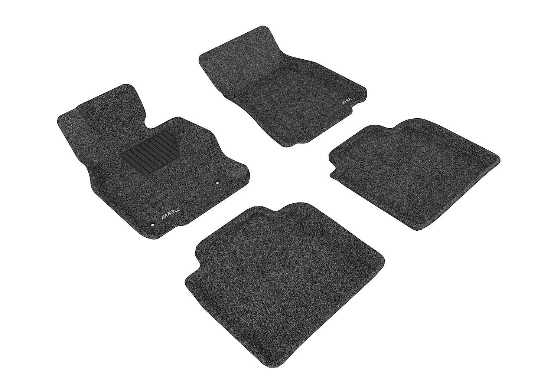 L1LX04212201 Gray 3D MAXpider Front Row Custom Fit Floor Mat for Select Lexus LS600HL Models Classic Carpet