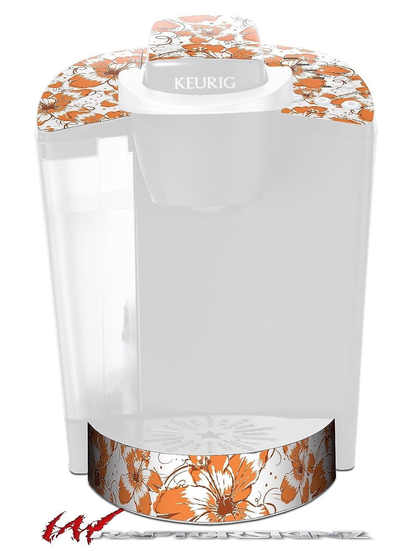 花パターン14 – デカールスタイルビニールスキンFits Keurig k40 Eliteコーヒーメーカー( Keurig Not Included )   B017AK8PKO