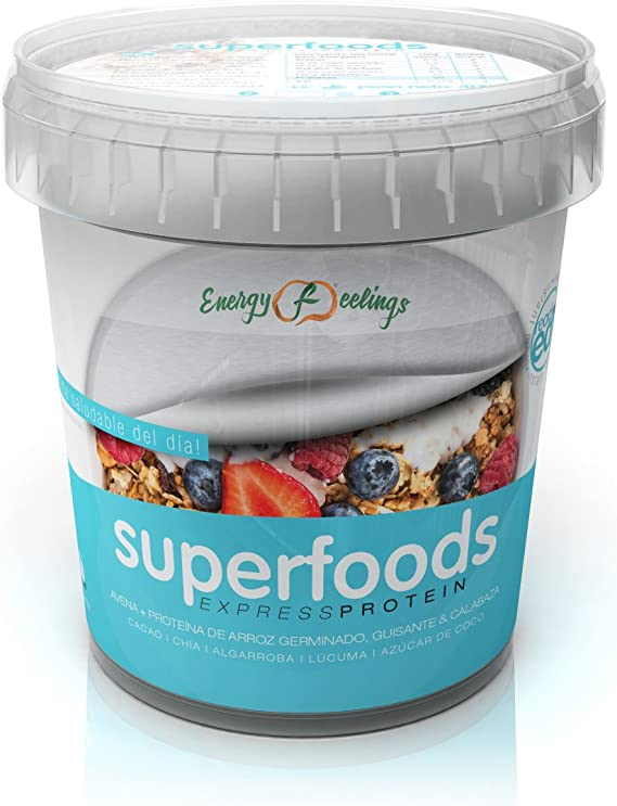 Energy Feelings Superfoods Express Protein Ecológico, Cubo ...