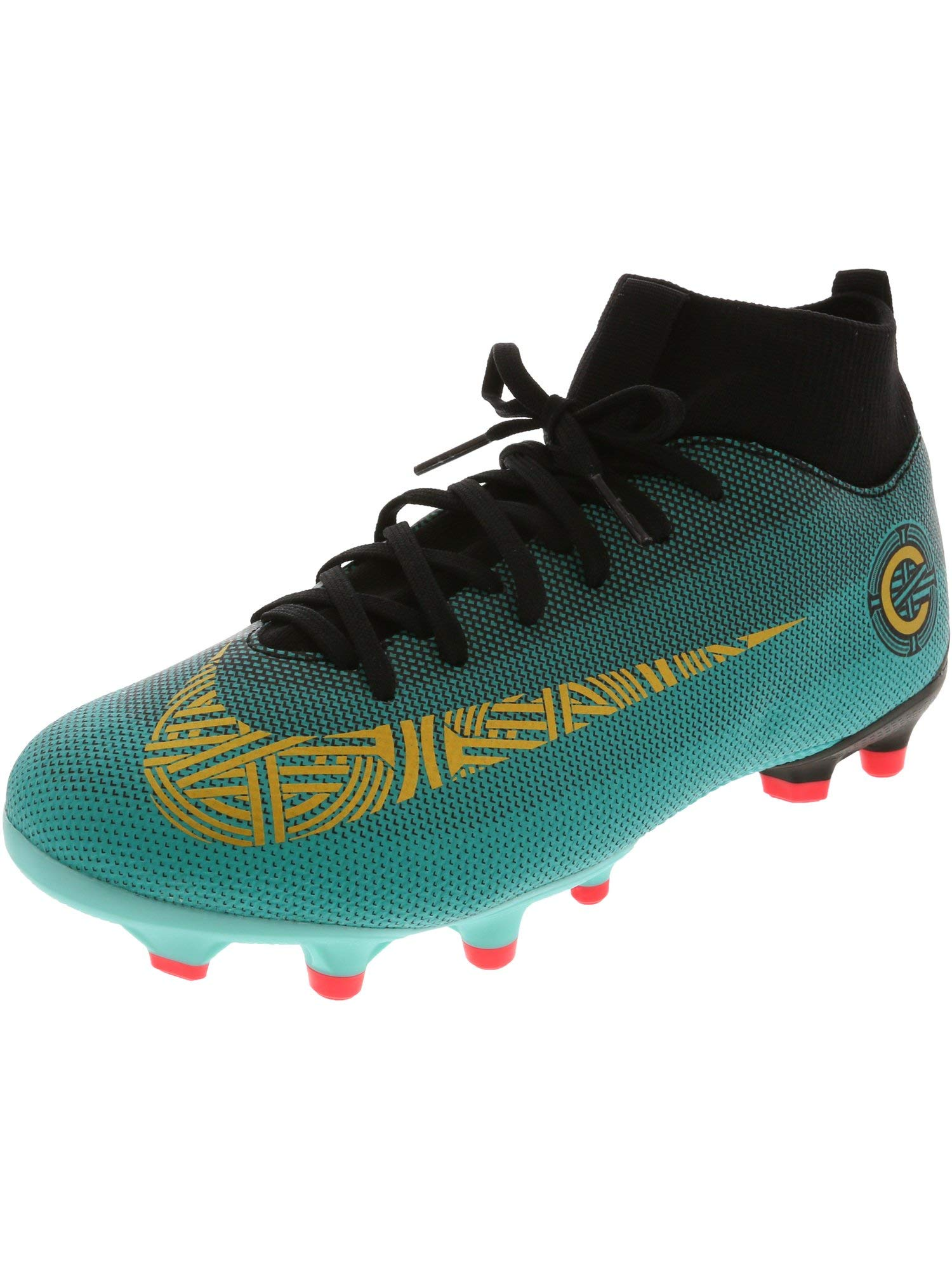 f04707cbcf Nike Superfly 6 Academy Gs Cr7 Clear Jade/Metallic Vivid Gold Ankle-High  Soccer