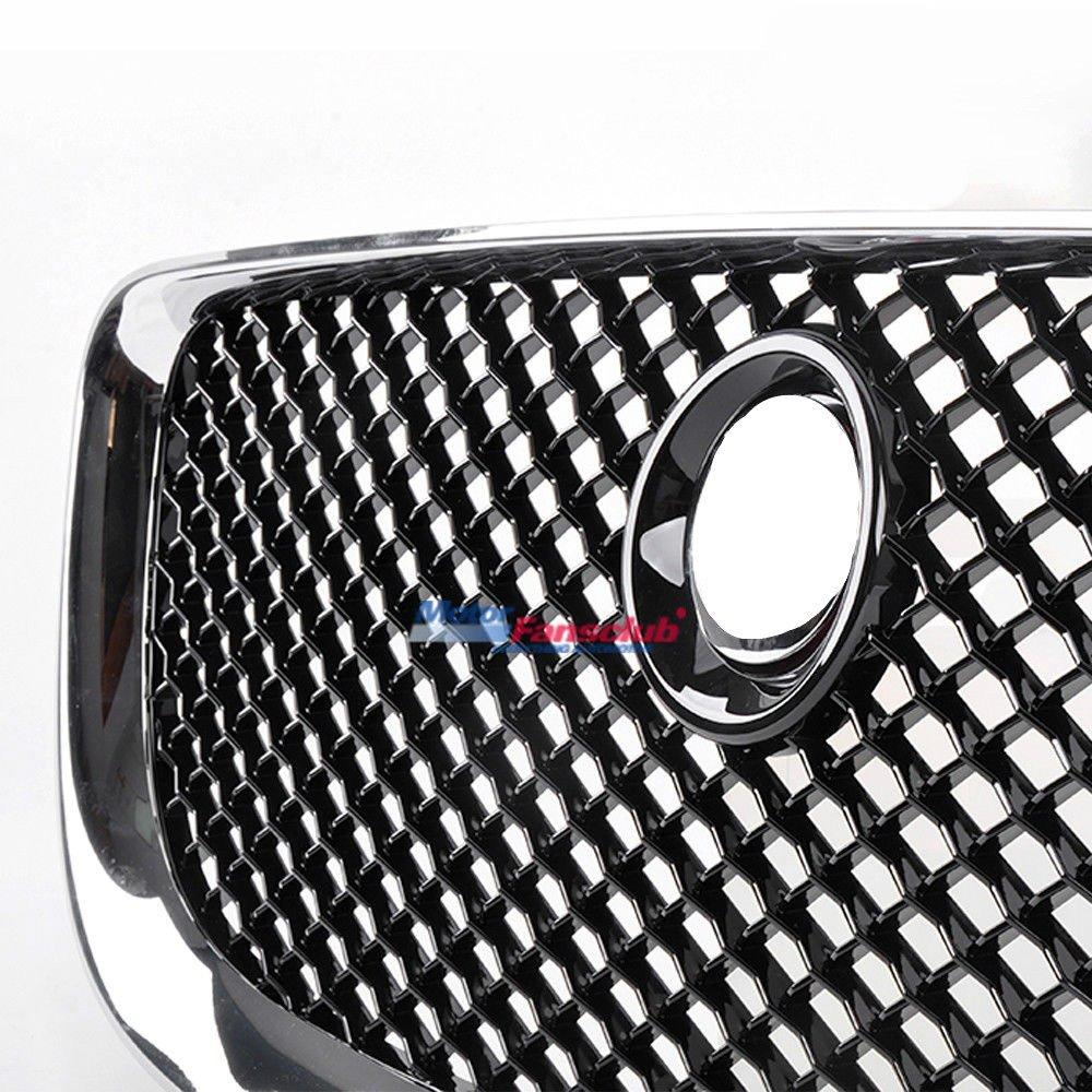 color negro Rejilla superior de rejilla frontal para radiador XJ2010-2015