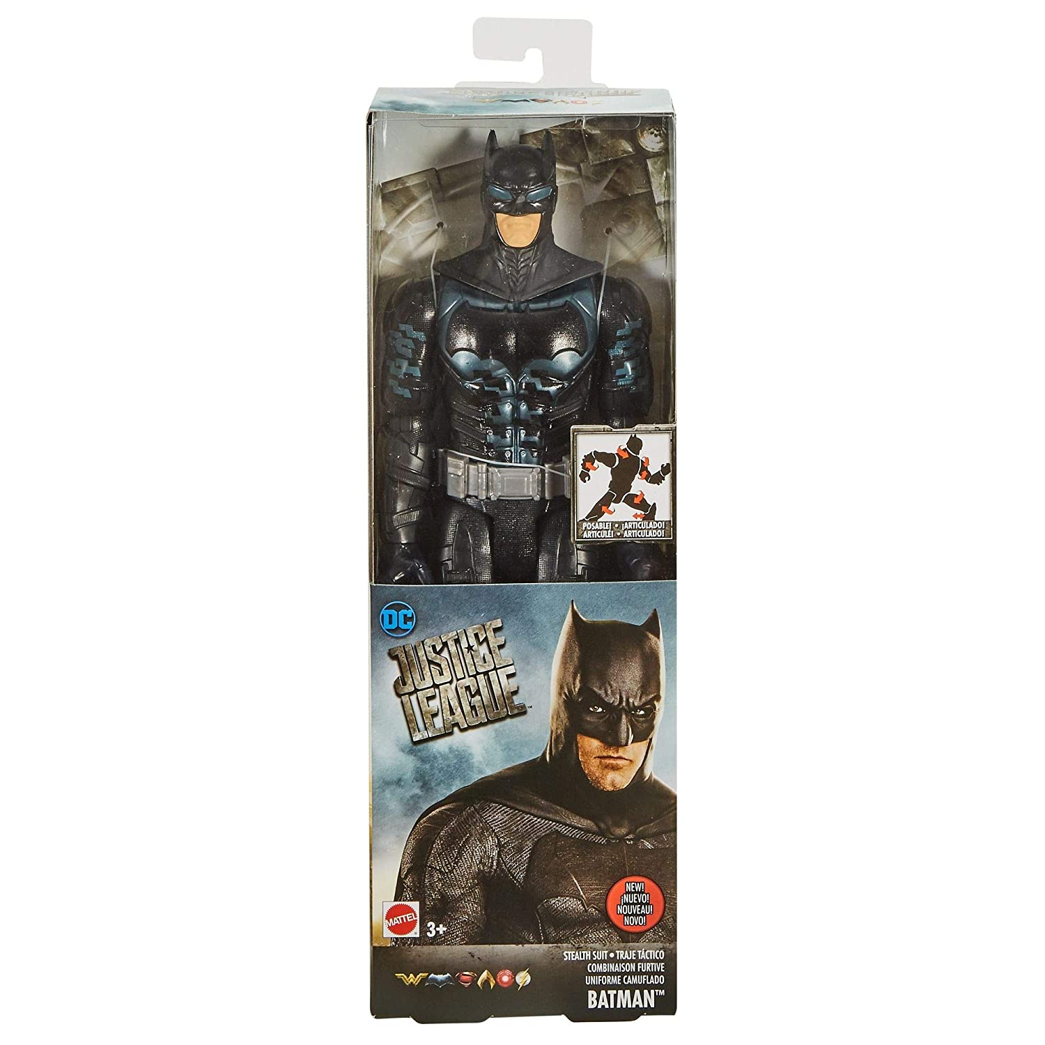DC Justice League Stealth Suit Batman Figure