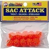 Atlas Mike's Sac Attack Imitation Salmon Fishing Bait Eggs (Pack of 10), Orange