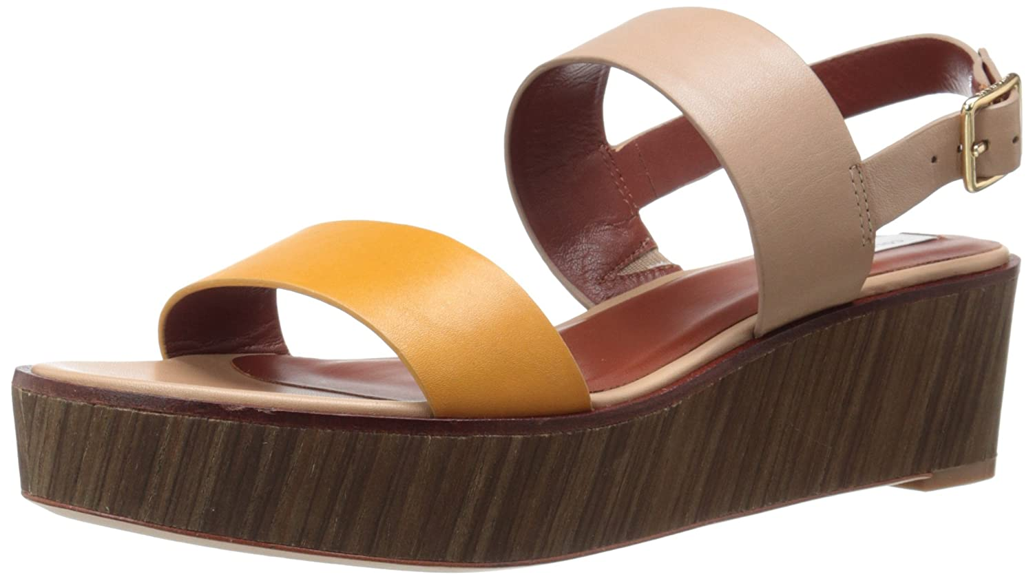 Cole Haan Women's Cambon Platform Dress Sandal B01A8HLO68 6 B(M) US Cremini Leather/Mineral Leather/Vertical Natural Stack