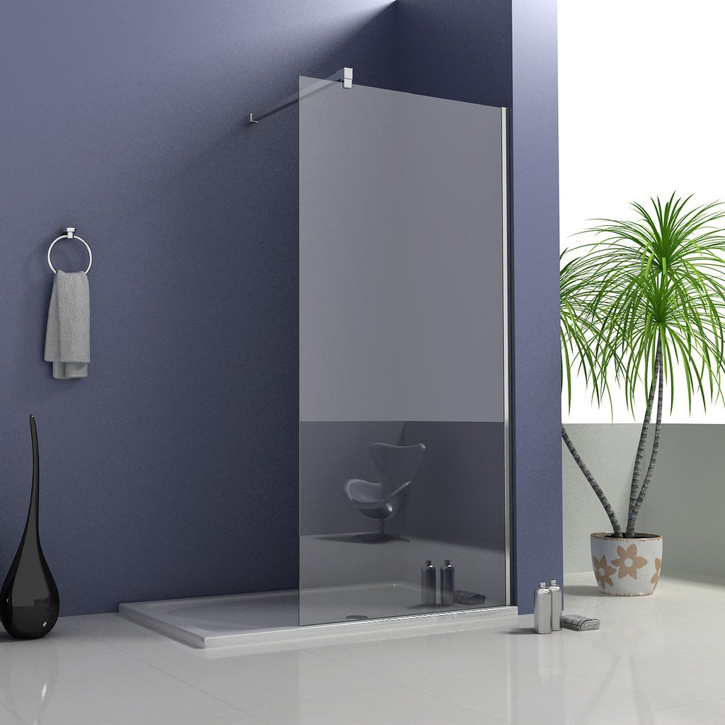 1400mm with steady support bar Perfect 800x2000mm Height Wet Room Screen Shower Enclosure 8mm Glass Panel with Support Bar