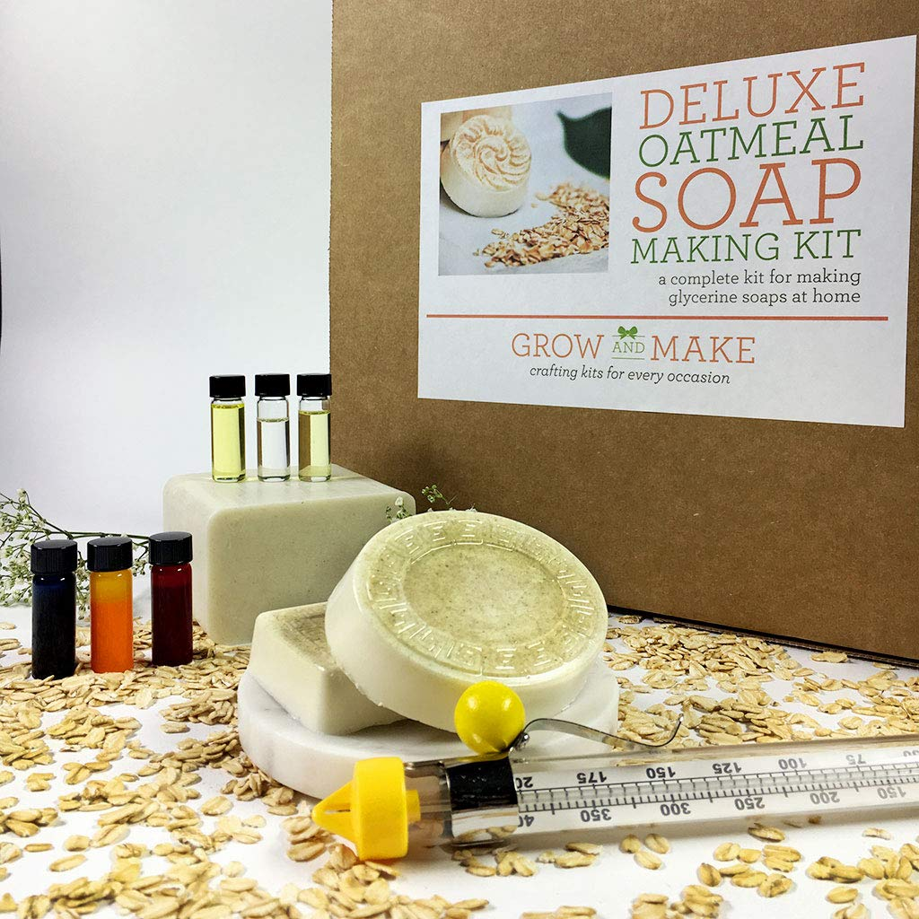 Grow and Make DIY Deluxe Oatmeal Soap Making Kit - Learn how to make natural soap at home! G&M132