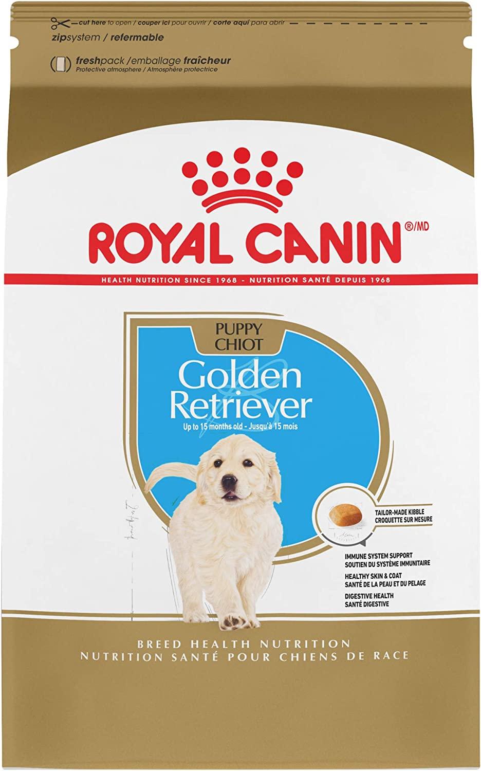 Royal Canin Golden Retriever Puppy Breed Specific Dry Dog Food, 30 pounds. bag