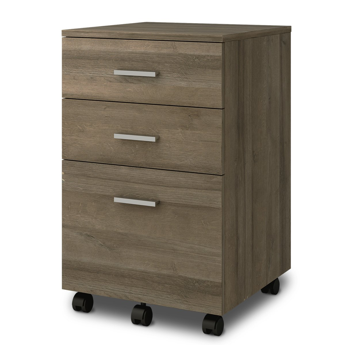 DEVAISE 3-Drawer Wood Mobile File Cabinet PCWC254765