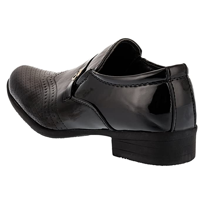 W.S. Shoes Boys Loafer Flats Black Black Black Size: 4.5 Child UK: Amazon.co.uk: Shoes & Bags