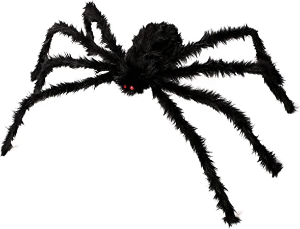 Bobofly Haarige Bewegliche Spinnen Lang Plusch Gruselige Tarantel Fur Terrasse Hof Garten Haus Halloween Dekoration 125cm Amazon De Kuche Haushalt